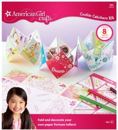 Create the cutest cootie catchers ever by folding pretty papers and choosing which fortune stickers to use. Have fun playing the game with your friends lifting flaps to reveal fun fortunes conversat...