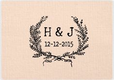 Monogram Custom Wedding Stamp. Personalized Wedding by UniqueStamp, $8.00