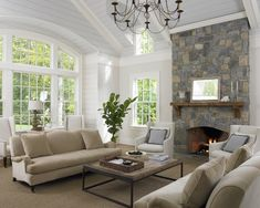 Family Room Vaulted Ceilings Design, Pictures, Remodel, Decor and Ideas - page 4