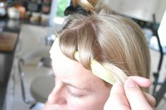 BEST WAY No-Heat Headband Curls: Beautiful curly hairstyle while you sleep! This is one of the best and easiest no heat curl methods. The variation is by Oksana from TLHC. The link has a picture tutorial and instructions for a DIY headband. Hair hair hair =)