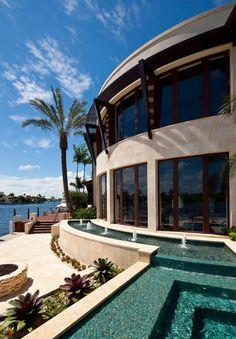 Intracoastal contemporary residence, Boca Raton, FL. Affiniti Architects.