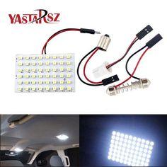 48 LED Auto Car Dome Festoon Interior Bulb Roof Light Lamp with T10 BA9S Festoon Adapter Base Reading light High Quality