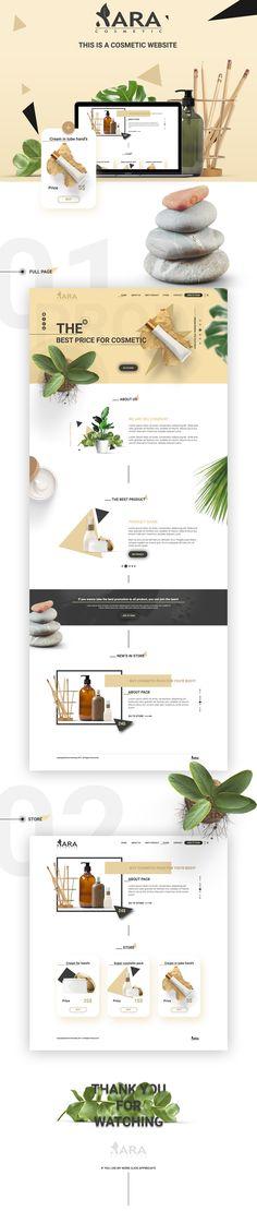 """Popatrz na ten projekt w @Behance: """"Xara Cosmetic - Web"""" https://www.behance.net/gallery/28963769/Xara-Cosmetic-Web"""