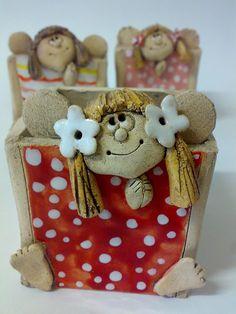 Andělkovník- nožky venku / Zboží prodejce Akoča a Ufola | Fler.cz Polymer Clay, Teddy Bear, Pottery, Biscuit, Angel, Animals, Dolls, Jewelery, Ceramica