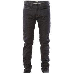 Bottega veneta jeans DARK BLUE ($415) ❤ liked on Polyvore featuring jeans, men, pants, bottoms, boys, dark blue jeans, waxed jeans, straight leg jeans and bottega veneta