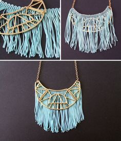 5 Fringe Statement Necklaces You Can Make in Under 5 Minutes | Brit + Co.