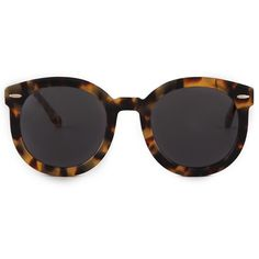 Karen Walker Super Duper Strength Sunglasses (3.755.605 IDR) ❤ liked on Polyvore featuring accessories, eyewear, sunglasses, glasses, sunnies, oversized glasses, round tortoise glasses, oversized round glasses, tortoiseshell sunglasses and round glasses