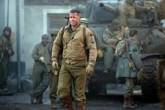 """Brad Pitt returns to Nazi killing in """"Fury,"""" this time leading a tank crew during the vicious, bloody final battles of World War II."""