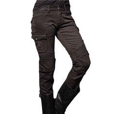 uglyBROS Motorpool-G Womens Motorcycle Jeans - Charcoal Grey | Motorcycle Trousers | FREE UK delivery - The Cafe Racer