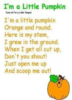 Im A Little Pumpkin Poem