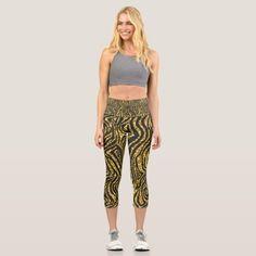 golden zebra print, zebra skin pattern, zebra art capri leggings fat legs workout, leggings and boots, leggings toned #workoutleggings #meninleggings #guysinleggings, dried orange slices, yule decorations, scandinavian christmas Grey Gym Leggings, Cheap Leggings, Capri Leggings, Workout Leggings, Women's Leggings, Yoga Wear, Zebra Print, Look Cool, Things That Bounce