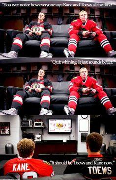 Love this bromance Jonathan Toews & Patrick Kane Chicago Blackhawks