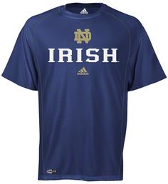 Notre Dame Fighting Irish adidas Navy Anti-Microbial Football Sideline T-Shirt