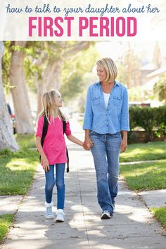 How to Talk to Your Daughter About Her First Period - 10 tips to follow to help your daughter prepare for the big day!