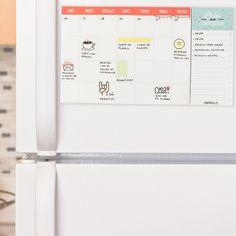 Organizador de nevera y lista de la compra