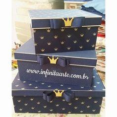 Trio caixas Coroa Dourada