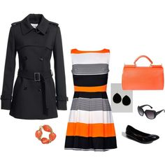 color blocking at its best...I also love the trench!