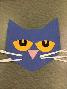Pete the cats sunglasses and easy art projects on pinterest for Cat art and craft