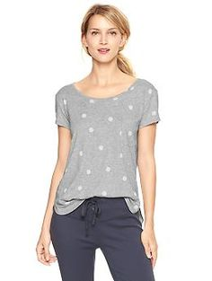 Polka dot T by GAP very affordable, comfortable and durable! Highly recommend!