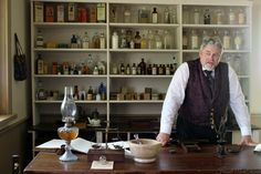 Westfield Heritage Village (Canada): the Drug Store which combines the doctor's examining room with an apothecary.