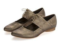 c3cbd4da3c New Vicky Bronze shoes Flats Leather Shoes by TamarShalem Bronze Shoes