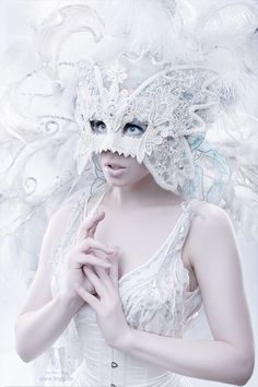 Ice moth by Alex-Blyg on deviantART This mask is a part of an adorable fairytale costume, made by the designer of Maskenzauber
