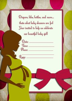 Pregnant Silhouette Baby shower Invitation by ThePartyGrl08, $8.00