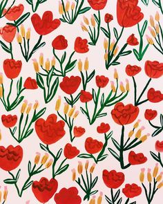 Flowers Red Wallpaper Print Patterns Ideas For 2019 Flower Background Wallpaper, Flower Backgrounds, Background Patterns, Background Red, Red Wallpaper, Red Pattern, Pattern Paper, Pattern Art, Illustration Blume