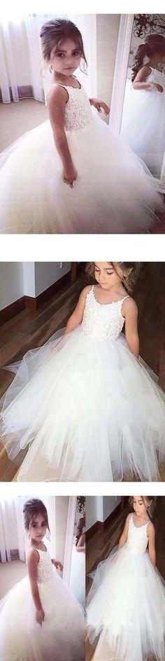 3cce81e8c5 Ball Gown Lace Flower Girl Dresses Cheap Cute Ivory Flower Girl Dresses   VB4156