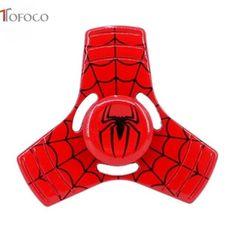 TOFOCO 3D Fidget Hand Spinner Fidger Spinner Shield Toy EDC Focus ADHD Autism The Avengers Spider