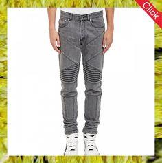 high quality biker men's jeans pants, stock jeans,wholesale washed jeans
