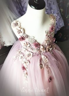 ANNA TRIANT COUTURE SS 2018, Orchid Rhapsody Teen/Adult Gown $700.00