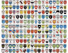 Coats of arms representing Irish clans