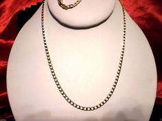 """FASHIONABLE NEW MEN'S OR WOMEN'S 14K GOLD PLATED 2MM - 24"""" CURB CHAIN NECKLACE #Unbranded #Chain"""