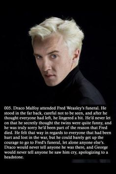 This made me cry, i hope it's true, cuz it just shows how Draco had no choice in the matter of which side he was on