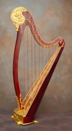 "The ""Gilded Lily"" lever harp by Howard Bryan"