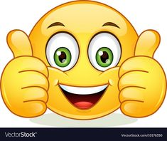 Emoticon showing thumb up Royalty Free Vector Image