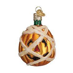 Old World Christmas Mummy Pumpkin Glass Blown Ornament