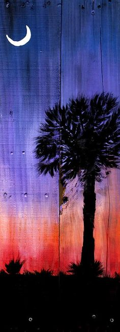 Palmetto Moon Painting  - Palmetto Moon Fine Art Print
