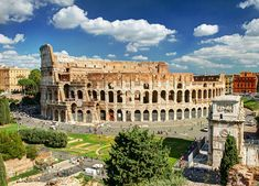colosseum in rome italy. famous colosseum or coliseum is one of the main travel destinations in europe. roma skyline with ancient roman colosseum in summer. panoramic view of colosseum from above. Tourist Attractions In Rome, The Tourist, Greece Tours, Italy Tours, Rome Travel, Italy Travel, Croisière Royal Caribbean, Arch Of Constantine, Viajes