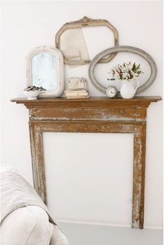 old frames and mirrors - perfect combination