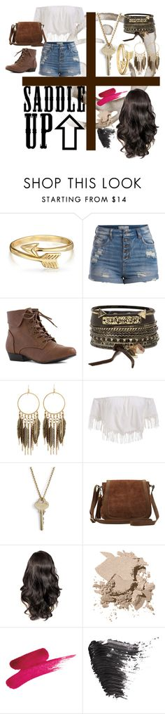 """""""saddle up"""" by josephine-smith ❤ liked on Polyvore featuring Bling Jewelry, Pieces, BKE, Panacea, The Giving Keys, M&Co, Bobbi Brown Cosmetics and Topshop"""