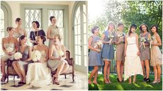 non matching bridesmaids dresses | ... below for cohesive, non-matching bridesmaid dresses in real weddings