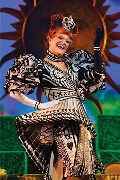 the Queen of Hearts costume for the Broadway show Wonderland by designer Susan Hilferty