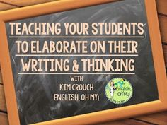 Teaching Your Students to Elaborate on Their Writing
