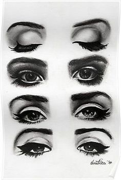 Drawing With Charcoal Lana del rey eyes Poster - Poster. Additional sizes are available. Lana del rey eyes original drawing made with pencils and charcoal Lana Del Rey Fan, Mode Inspiration, Makeup Inspiration, Beauty Make Up, Hair Beauty, Elizabeth Woolridge Grant, Realistic Eye Drawing, Retro Makeup, Vintage Makeup