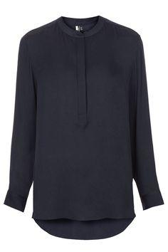 Silk Bib Detail Premium Shirt