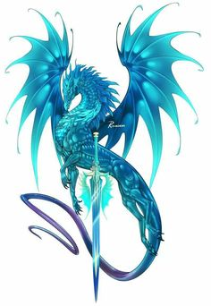 Know your dragon. It tells you about your mythic dragon. Blue Dragon Tattoo, Small Dragon Tattoos, Dragon Tattoo For Women, Dragon Tattoo Designs, Tattoo Small, Mythical Creatures Art, Mythological Creatures, Wings Of Fire Dragons, Mythical Dragons