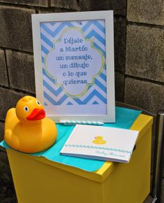 ruber ducky baby shower guest book