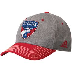 dcab6a71585 Men s FC Dallas adidas Gray Red Two Tone Structured Adjustable Hat